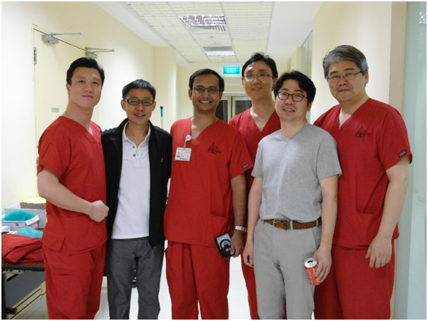 WITH KOREAN COLLEAGUES AT CADAVERIC WORKSHOP IN SINGAPORE